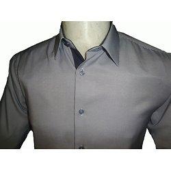 Chemise bleue à rayures pour homme