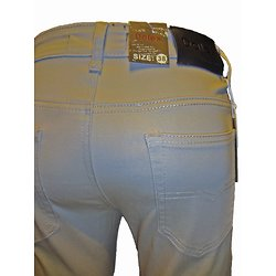 Pantalon beige en coton pour homme
