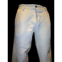 Pantalon lin beige homme