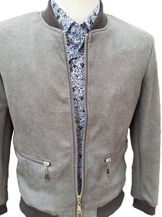 Blouson gris habillé pour homme tendance