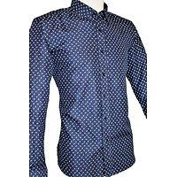 Chemises coupe droite bleues à motifs