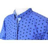 Chemisette grande taille bleue pour homme