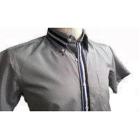 Chemises à petit carreaux manches courtes d été pour homme
