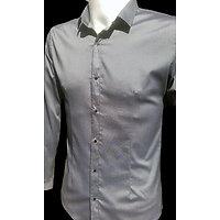 Chemises grise foncé micro fibre pour homme