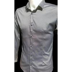 Chemises grises argent pour homme