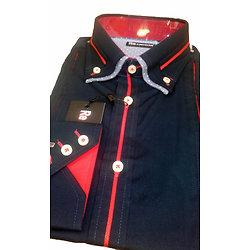 Belle chemise unie bleue marine pour homme