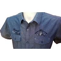 Chemisette bleue forme droite avec inscription pour homme (copy)
