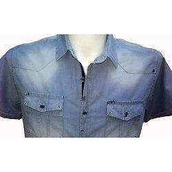 Chemisette bleue sportswear pour homme