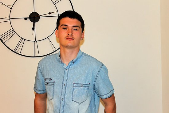 chemisette en jeans délavé homme yo p
