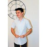 chemisette sans repassage blanche à motifs homme