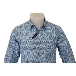 Chemise forme classique bleue pour homme