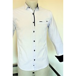 Chemise mode blanche pour homme