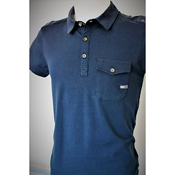 Polo bleu avec poche pour homme