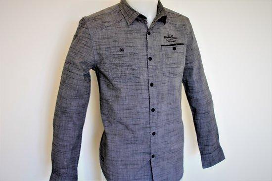 chemise avec 2 poches grise pour homme