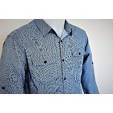 Chemises avec 2 poches bleu pour homme