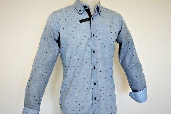 Chemises bleues mode pour homme