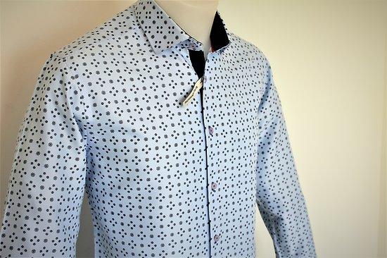 Chemises fashion bleues homme