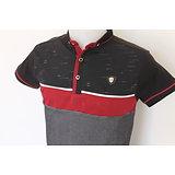 Polo noir et rouge pour homme mode