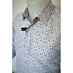 Chemise homme blanche à petits motifs