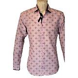 Chemises roses et bleues marines foncé pour homme