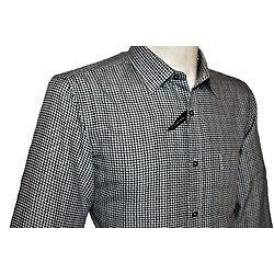 chemise sport noir a manche courte rms forme large ample homme