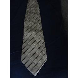 Cravate beige en soie homme