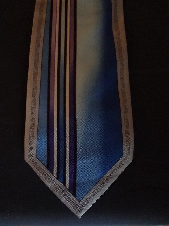 Cravate homme,mode micro poly gris clair et bleu