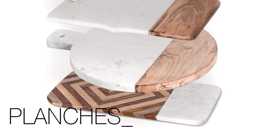 Planche en marbre et bois