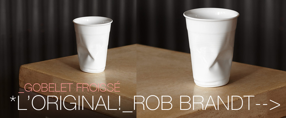 Gobelet roissé, crush cup by Rob Brandt