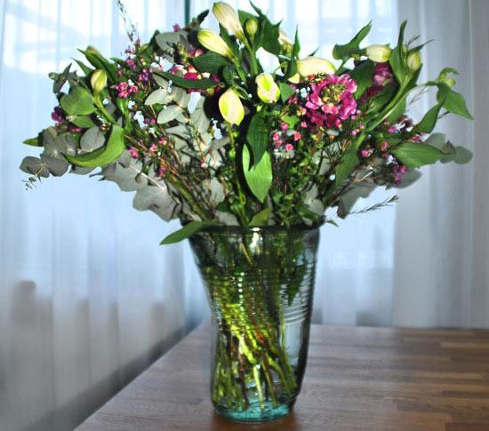 saut champagne vase grand verre froiss crushed glass xxl. Black Bedroom Furniture Sets. Home Design Ideas