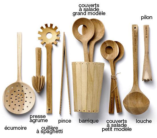 Cuill re spaghetti en bois fair cutlery - Ustensile de cuisine maryse ...