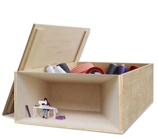 petite bo te de rangement en bois clair 2 mod les. Black Bedroom Furniture Sets. Home Design Ideas