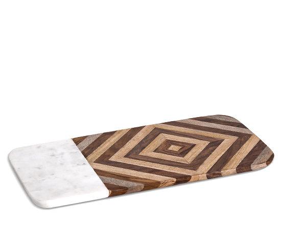 planche d couper rectangulaire en marbre et bois. Black Bedroom Furniture Sets. Home Design Ideas