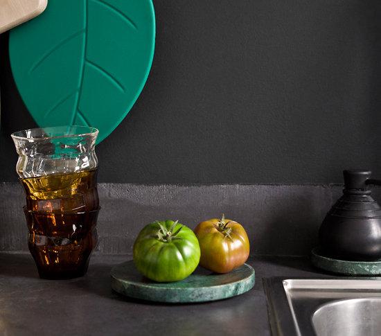dessous de plat manique en silicone vert fonc. Black Bedroom Furniture Sets. Home Design Ideas