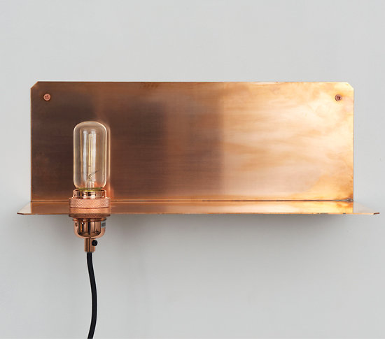 tag re lampe poser ou fixer en cuivre. Black Bedroom Furniture Sets. Home Design Ideas