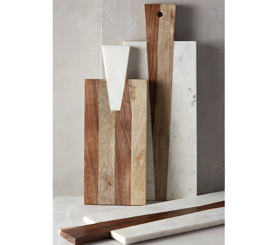 Planche d couper rectangulaire en bois et marbre for Planche a decouper marbre