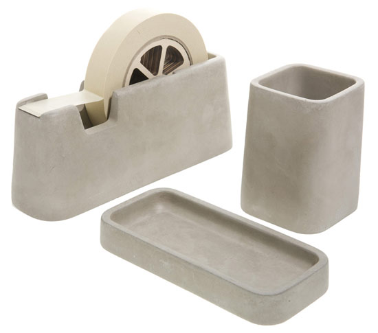 CONCRETE DESK SET - DESTOCKAGE