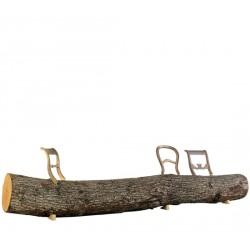 TREE TRUNK BENCH