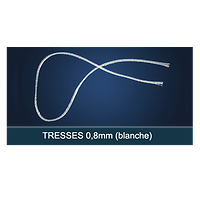 FiberForce - Tresse Blanche 0,8x150mm