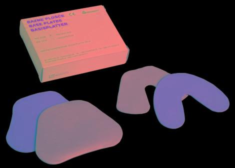 Interdent - Plaque Base Rose Sup (100pcs)