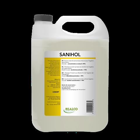 Realco - Sanihol Désinfectant Surface 5L