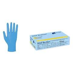 Meditrade - Gants Nitriles Bleus X-LARGE (100 pcs)