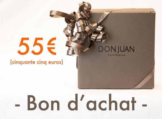 Chèques cadeau DON JUAN avec bonus +10%