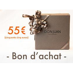 Chèque cadeau d'une valeur de 55 €