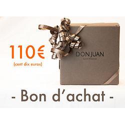 Chèque cadeau d'une valeur de 110 €