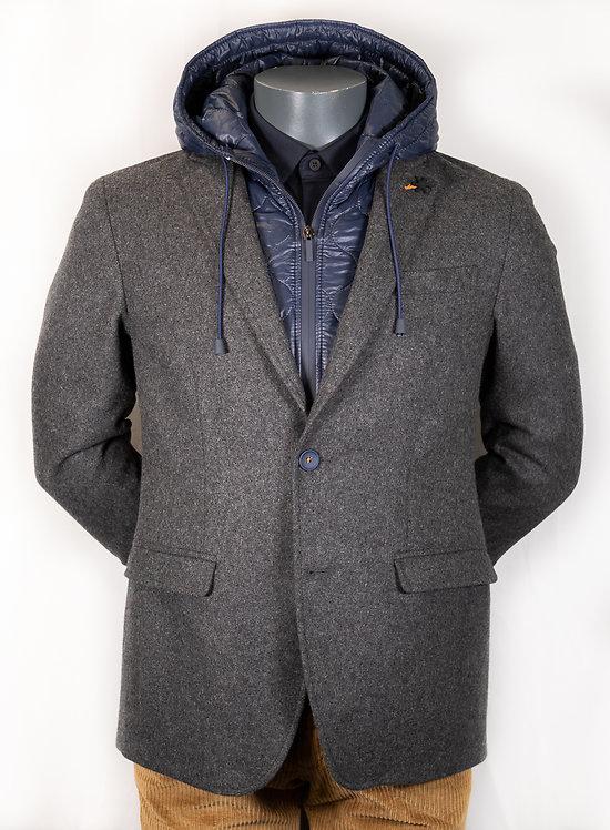 Veste grise capuche amovible Trendy