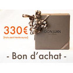 Chèque cadeau d'une valeur de 330 €