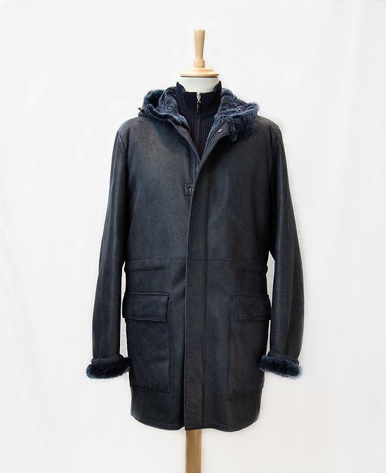 Manteau cuir peau lainé MARINI