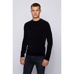 Pullover col rond coton stretch