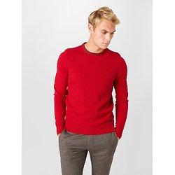 Pullover col rond coton laine